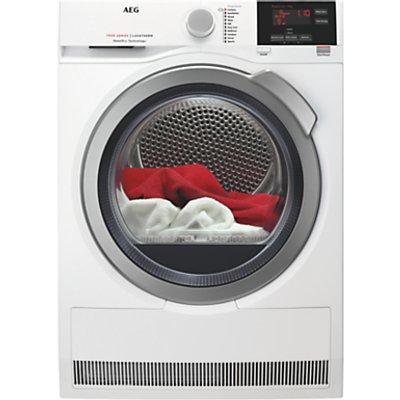 AEG T7DBG832R Heat Pump Tumble Dryer, 8kg Load, A+ Energy Rating, White