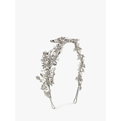 Ivory   Co  Crystal and Cubic Zirconia Pave Side Headpiece  Silver - 23377721