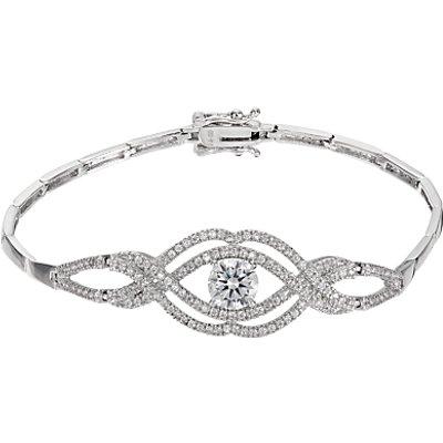 Ivory   Co  Cubic Zirconia Rose Bracelet  Silver - 23377394