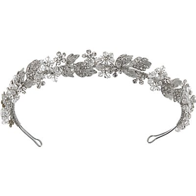 Ivory   Co  Crystal and Cubic Zirconia Pave Tiara  Silver - 23377660