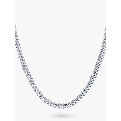 Ivory   Co  Marquise Cubic Zirconia Collar Necklace  Silver - 23378025