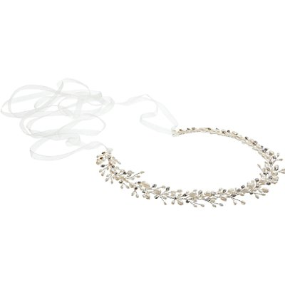 Ivory   Co  Freshwater Pearl and Cubic Zirconia Hair Vine  Silver - 23377844