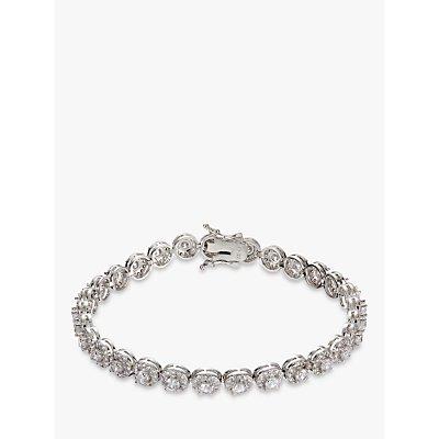Ivory   Co  Round Cubic Zirconia Pave Tennis Bracelet  Silver - 23377387