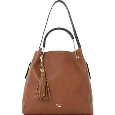 Dune Daura Metal Handle Slouch Shoulder Bag  Tan - 5057137432704