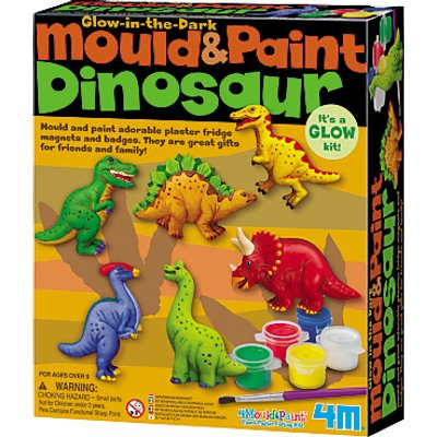 Mould & Paint Glow In The Dark Dinosaur Kit
