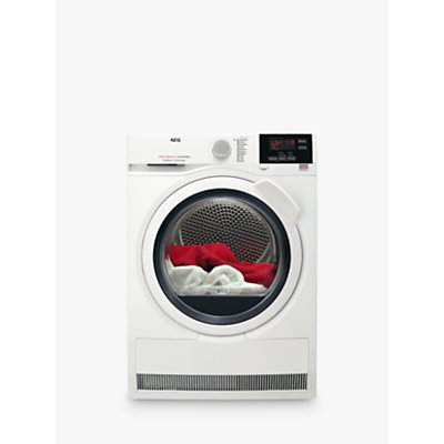 AEG T6DBG721N 6000 Series Condenser Tumble Dryer, 7kg load, B Energy Rating, White