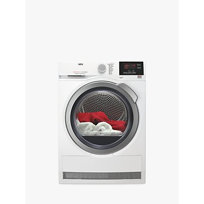 AEG T6DBG822N 6000 Series Condenser Tumble Dryer, 8kg Load, B Energy Rating, White