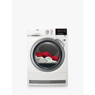 AEG T8DBG842R 8000 Series Heat Pump Tumble Dryer, 8kg Load, A++ Energy Rating, White