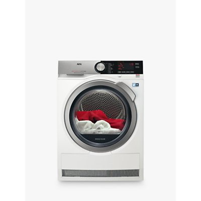 AEG T8DEC946S 8000 Series Heat Pump Tumble Dryer, 9kg Load, A++ Energy Rating, White