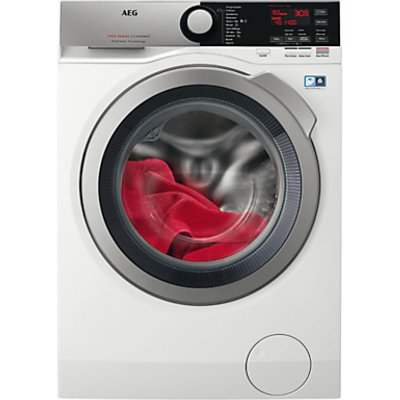 AEG ProSteam Technology L7FEE845R Freestanding Washing Machine, 8kg load, A+++ Energy Rating, 1400rpm, White