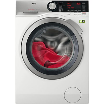AEG L8FEC966R Freestanding Washing Machine, 9kg load, A+++ Energy Rating, 1600rpm, White