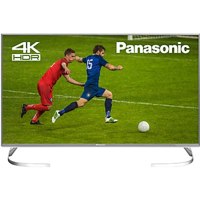 Panasonic TX-40EX700B LED HDR 4K Ultra HD Smart TV, 40 with Freeview Play, Slim Metallic Bezel & Switch Design Adjustable Stand, Ultra HD Certified, Silver