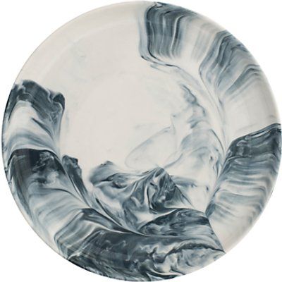 BlissHome Marble Side Plate  Dia 22cm  Grey - 5035130117439