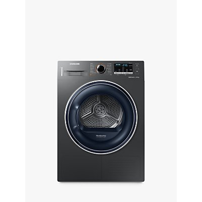 Samsung DV80M50103X Heat Pump Tumble Dryer, 8kg Load, A++ Energy Rating, Graphite