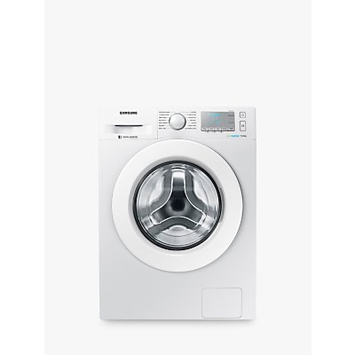 "Samsung WW90J5456MA ecobubbleâ""¢ Freestanding Washing Machine, 9kg Load, A+++ Energy Rating, 1400rpm Spin, White"