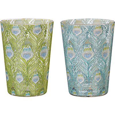 Liberty Fabrics   John Lewis Caesar Print Glass Tumblers  Multi  460ml  Set of 2 - 23501607