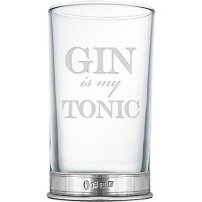 5060506058795 | English Pewter Company  Gin is my Tonic  Highball Glass  340ml