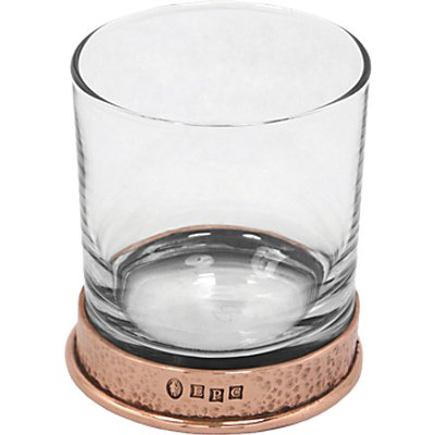5060506058634 | English Pewter Company Glass Tumbler With Copper Hammered Base  312ml