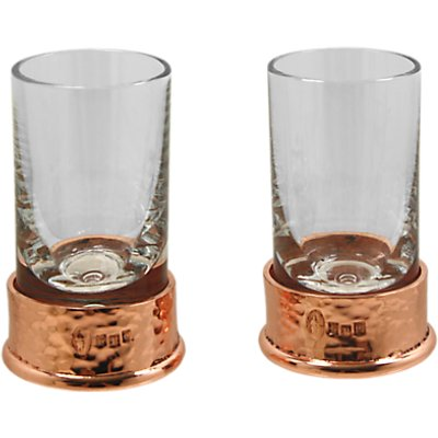 5060506058788 | English Pewter Company Shot Glasses With Copper Hammered Base  Set of 2