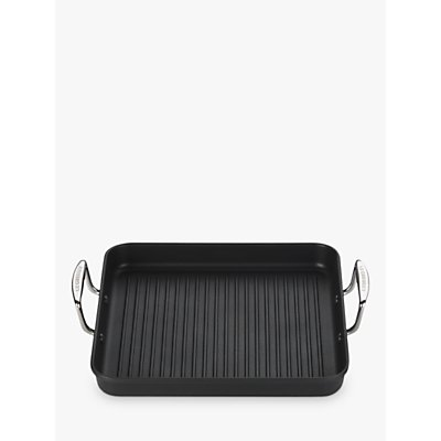 Le Creuset Ribbed Rectangular Toughened Non Stick Grill  Satin Black  28cm - 0630870183413