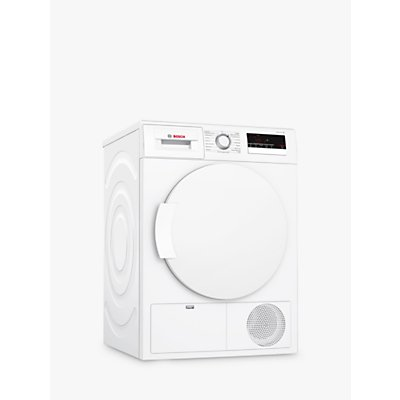 Bosch WTN83200GB Freestanding Condenser Tumble Dryer, 8kg Load, B Energy Rating, White