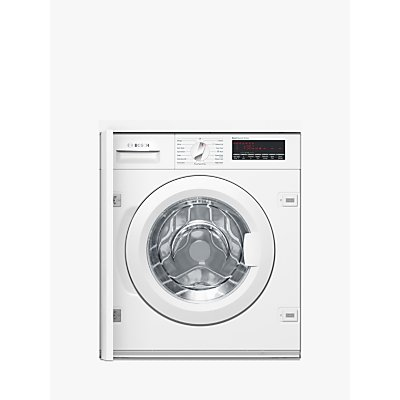 Bosch WIW28500GB Integrated Washing Machine, 8kg Load, A+++ Energy Rating, White