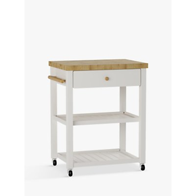 John Lewis Croft Collection Wood Butcher s Trolley - 23529007
