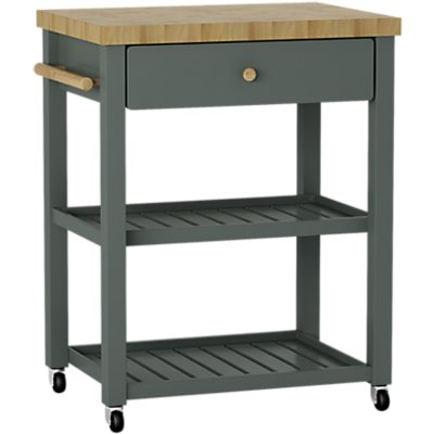John Lewis Croft Collection Wood Butcher s Trolley - 23528987