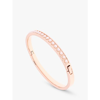Ted Baker Clemara Faux Pearl Bangle  Rose Gold White - 5055336356050