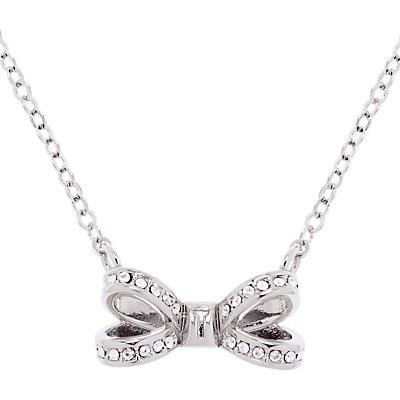 Ted Baker Olessi Mini Pave Swarovski Crystal Bow Pendant Necklace - 5055336355749