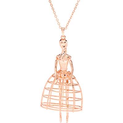 Ted Baker Peige Swarovski Crystal Ballerina Pendant Necklace  Rose Gold - 5055336350966