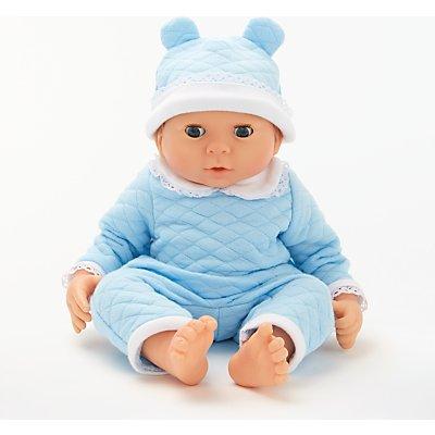 John Lewis & Partners Newborn Baby Doll, Blue