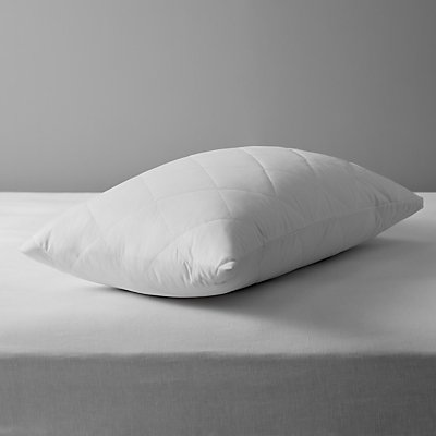 John Lewis The Basics Quilted Microfibre Standard Pillow Protectors  Pair - 23729865