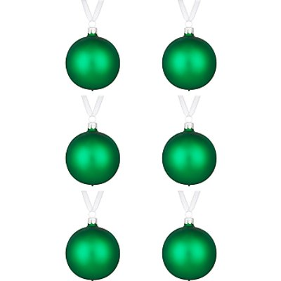 John Lewis Lima Llama Pearlised Baubles  Set of 6  Green - 23687714