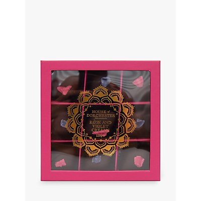 House of Dorchester Tales of the Maharaja Rose and Violet Cream Chocolates, 115g