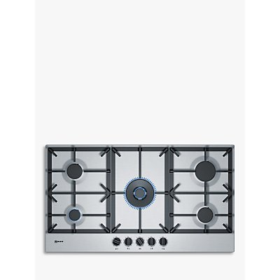 Bosch T29DS69N0 5 Burner Black Stainless Steel Gas Hob - 4242004203612