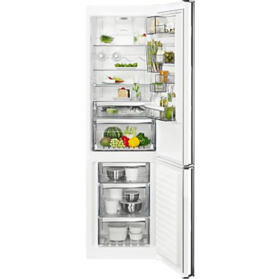AEG RCB83724MW Freestanding CustomFlex Fridge Freezer, A++ Energy Rating, 64cm Wide, White