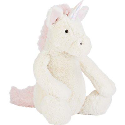 Jellycat Bashful Unicorn Soft Toy, Really Big, White/Pink
