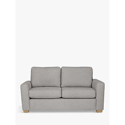 House by John Lewis Oliver Small 2 Seater Sofa, Light Leg, Aquaclean Matilda Steel