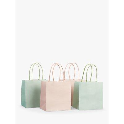 John Lewis Mini Gift Bags  Pack of 4  Pink Mint - 23637856