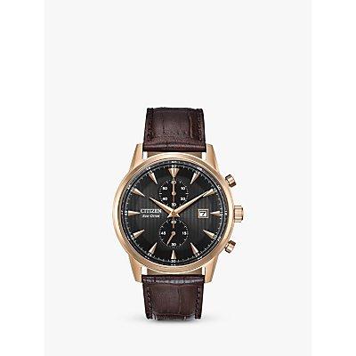 Citizen CA7003 06E Men s Chronograph Date Leather Strap Watch  Brown Black - 4974374271464