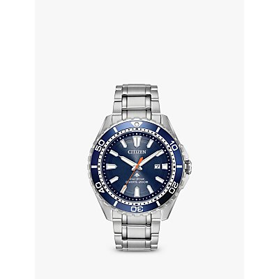 Citizen Men s Divers Date Bracelet Strap Watch  Silver Blue BN0191 55L - 4974374269720