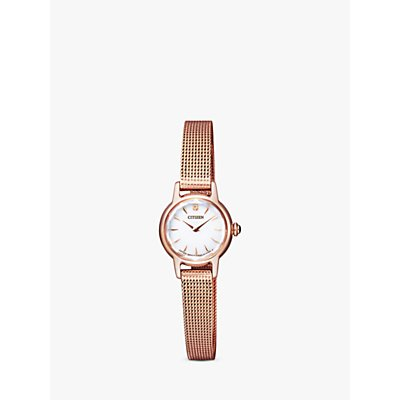 Citizen EG2992 51A Women s Petite Elegance Bracelet Strap Watch  Rose Gold White - 4974374272980