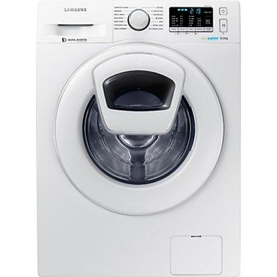 Samsung AddWash WW80K5410WW/EU Washing Machine, 8kg Load, A+++ Energy Rating, 1400rpm Spin, White