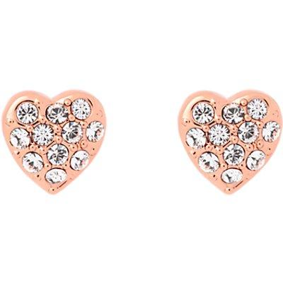 Ted Baker Pave Crystal Heart Stud Earrings - 5055336357620