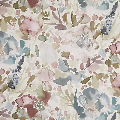 Croft Collection Mirren Furnishing Fabric  Purple - 23891579