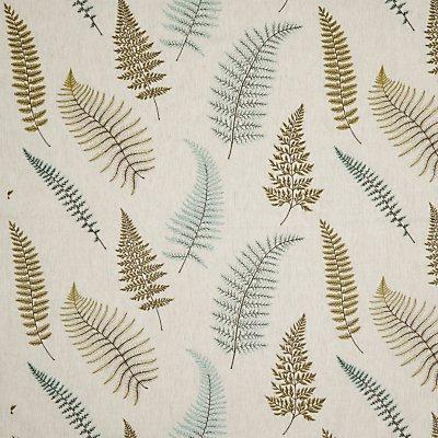 John Lewis   Partners Fern Embroidery Furnishing Fabric  Green - 23892026