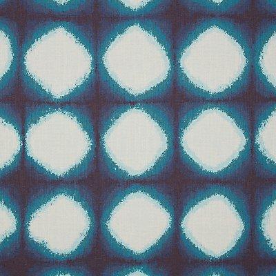 John Lewis Shibori Furnishing Fabric  Blue - 23891449