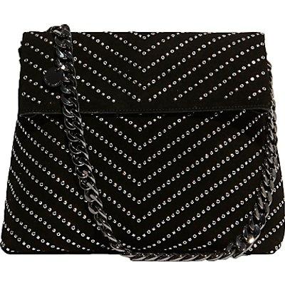 Karen Millen Leather Stud Regent Shoulder Bag  Black - 5054236217829