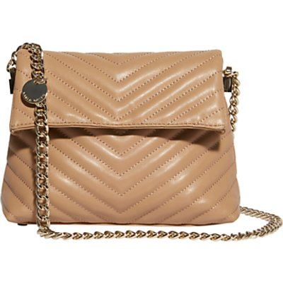 Karen Millen Mini Regent Leather Quilted Shoulder Bag  Nude - 5054236216280